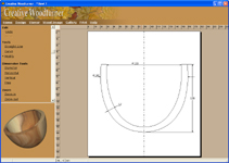 Draw the shape of woodturnings on the design page