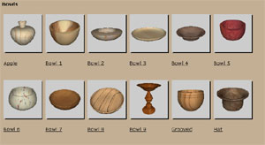 Over 60 woodturning designs come with the software
